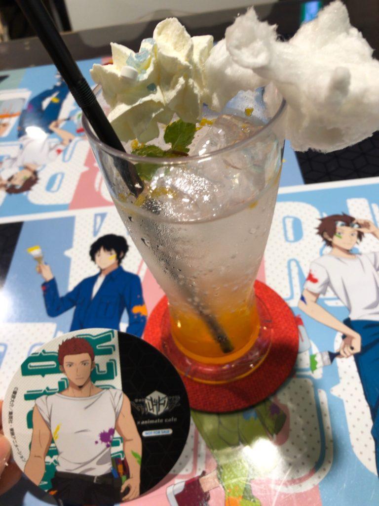 ワールドトリガーカフェ-遊真のグラスホッパードリンク